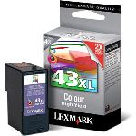 Lexmark 18YX143 - Cartouche d'encre 43XL 3 couleurs