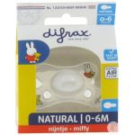 Difrax Sucette Natural 0-6 Miffy