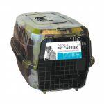 M pets Cage de transport Warrior - Pour chien - 58x40x26,5cm - Vert Kaki