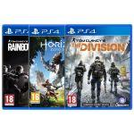 Rainbow Six : Siege + The Division + Horizon Zero Dawn (PS4) [PS4]