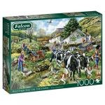 Diset Puzzle 1000 pièces : Un autre jour à la ferme