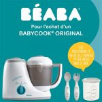 Beaba Babycook Original - Chauffe biberons + 1 maxi portion + 2 couverts ergonomiques