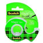 Scotch Ruban adhésif invisible Magic Tape - 19 mm x 15 m - sur dévidoir plastique
