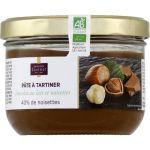 Monoprix gourmet Pâte à tartiner chocolat au lait et noisettes, 40% noisettes issue de l'agriculture biologique