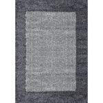 Nazar VEGA Tapis de salon Shaggy - 120 x 170 cm - Gris