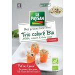 LE PAYSAN Trio colore (cresson, alfalfa, chou rouge) à germer