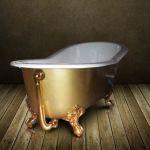 Le Monde du Bain Ashford Gold - Baignoire en fonte émaillée dorée