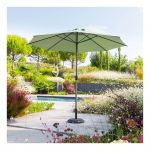 Hesperide Parasol mat central rond 3m Loompa olive - Olive