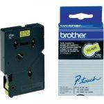 Brother TC-601 - Ruban laminé noir sur fond jaune 12mm
