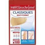 Mercurochrome Pansements classiques multi-formats boîte familiale, 100 unités