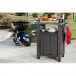 Keter Barbecue Table d'appoint, 1 Porte, Graphite, 54 x 70 x 90 cm, 6130