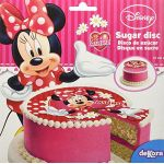 Disque de décoration en sucre Minnie 16 cm