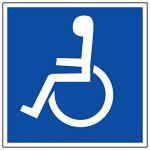 Novap Panneau d'information - wc handicapé