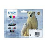 Epson T2636 - Multipack de 4 Cartouches d'encre 26XL (noire, magenta, cyan et jaune)