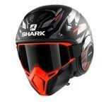 Shark Casque jet Street-Drak Kanhji Mat noir/orange/argent - XS
