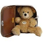 Steiff Peluche Ours Teddy Fynn dans valise 28 cm