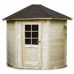 Solid S8204 - Abri de jardin de coin Nancy en bois 28 mm 3,40 m2