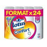 Lotus Papier Toilette confort Blanc - Les 24 rouleaux