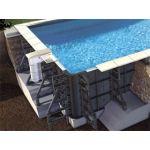 Procopi Piscine P-PSC rectangulaire avec filtration Soliflow hauteur 150 cm - Couleur liner: Gris clair - Taille piscine: 7,50 x 3,50 x 1,50 m