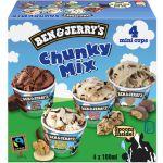 Ben & jerry's Crème glacée, Chunky Mix - Les 4 pots de 100ml