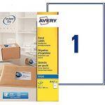 Avery-Zweckform Avery Etiquettes d'expédition 199,6 x 289,1 mm, Blanc, Jet d'encre