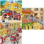 Ravensburger Puzzle Les Pompiers au Travail 3 x 49 pièces