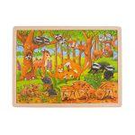 Goki Puzzle Bébés Animaux dans la forêt 48 pièces, 57734, Multicolore