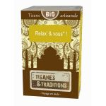 Tisanes & traditions Relax' & vous - boite bois 30 sachets