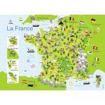 Nathan Carte France - Puzzle 100 pièces