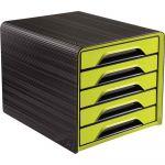 CEP Office Solutions Module 5 tiroirs classique SMOOVE - noir/vert anis