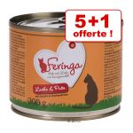 Feringa Lot Menus Duo 12 x 400 g pour chat - saumon, dinde, courgettes, cresson de fontaine
