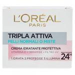 L'Oréal Paris Tripla Attiva Pelli Normali o Miste Crema Idratante Protettiva - 50 ml