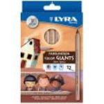 Lyra 3931124 - 12 Crayons de couleur Skin Tones assorties