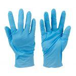 Silverline 100 gants nitrile non poudrés jetables - Bleu, medium