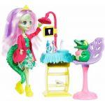 Mattel Enchantimals Coffret le dentiste Crocodile, Mini-poupée Andie et Figurine Animale Marshy, Accessoires inclus, Jouet pour Enfant, Gfn55