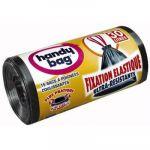 Handy Bag Sac poubelle fixation élastique 30 L (vendu par 15)