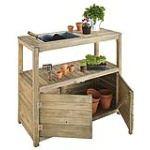 Jardipolys 423 - Table de préparation avec 2 portes bois autoclave