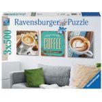 Ravensburger 3 puzzles Le plaisir du café 500 pièces