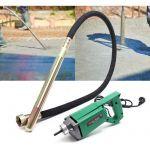 wiltec Vibreur à béton 800W Aiguille vibrante Incluse de 200 cm avec Arbre Flexible Outil Manuel électrique
