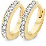 Blush bijoux Boucles d'oreilles Blush 71299BZI - Anneaux or jaune et blanc 10,22 mm et oxydes de zirconium 2 mm