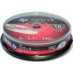 HP DVD+R double couche 8x, 10 pièces en cake box