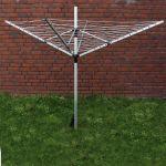 wiltec Séchoir à linge rotatif aluminium blanchisserie sécheur stationnaire Pliable Réglable en hauteur
