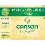 Canson 27103 - 12 Feuilles de papier dessin C 224 g (A+)