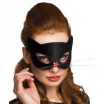Masque chat noir avec nez coeur femme
