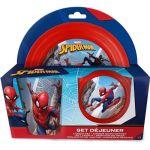 Set déjeuner plastique 3 pièces Spiderman