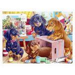 Pintoo Puzzle en Plastique - Puppies in the Studio