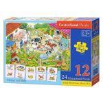 Castorland Puzzle 12 pièces et puzzles éducatifs de 2 pièces : Maman Animaux et leur Bébé