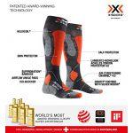 X-Socks Ski Touring Silver 4.0 Chaussettes Homme, anthracite melange/orange fluo EU 45-47 Chaussettes de compression