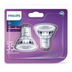 Philips Spot LED 3,5-35W GU10, blanc, intensité variable