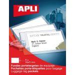 APLI 10428 - Etui de 6 porte-étiquettes pour bagages 115 x 71 mm